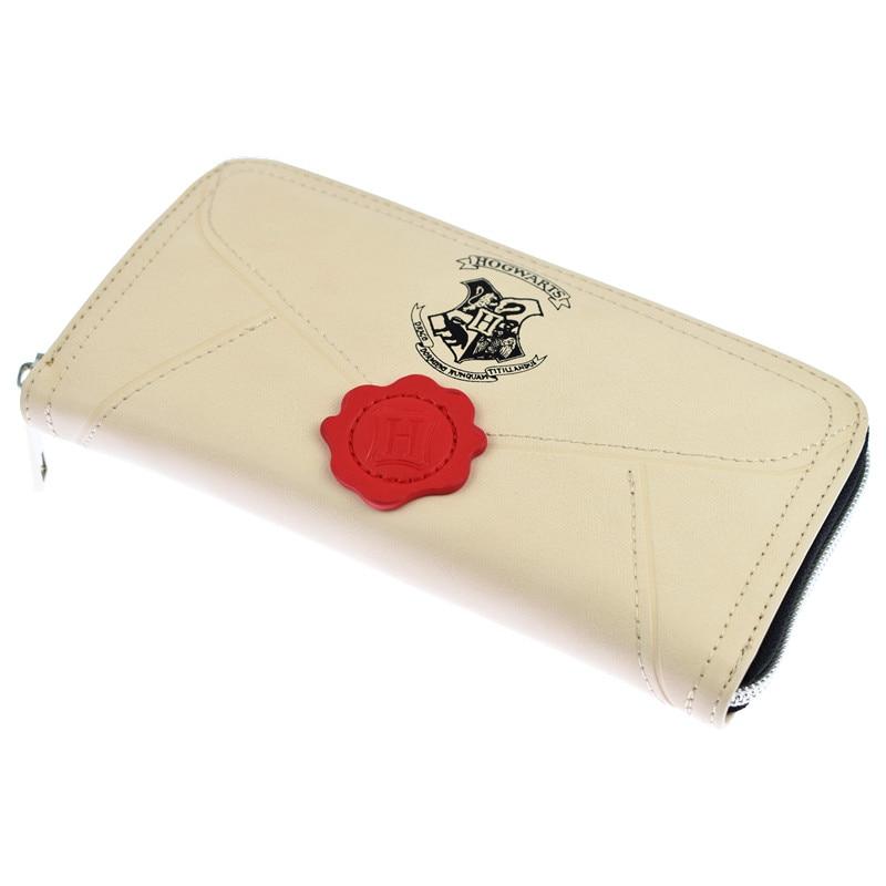 10 Teile/los Harry Potter Hogwarts Brief Brieftasche Lange Vintage Frauen Geldbörsen Designer Marke Geldbörse Dame Party Brieftasche Diversifizierte Neueste Designs