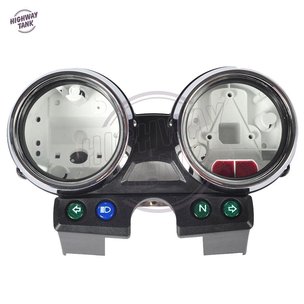 1 Set Chrome Motorcycle Speedometer Tach Gauge Cover Moto Speed Gauge Shell case for Kawasaki ER5