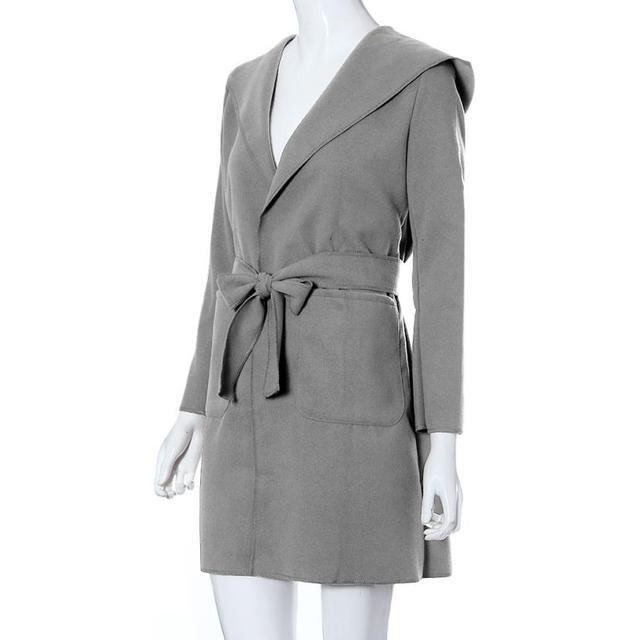 Горячей маркировки 2015 Мода Женская С Длинным Рукавом Пальто Топы Ø14