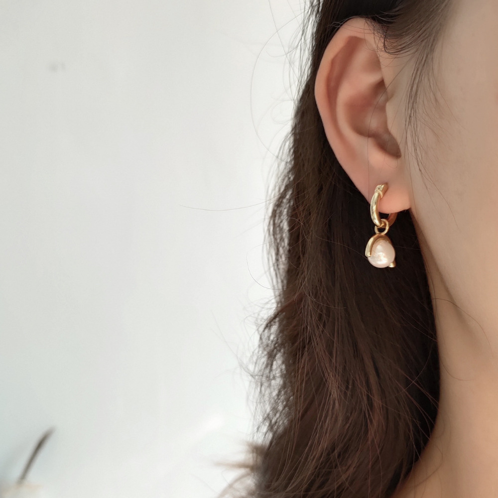 Boho 925sterling silver Jewelry Women Earrings round Shell Pearls Gold Color earrings Evening Party Jewelry Accessories Gift in Earrings from Jewelry Accessories