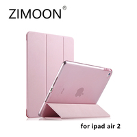 ZIMOON New Case For Apple IPad Air 2 Ultra Slim Tri Fold PU Leather Smart Cover
