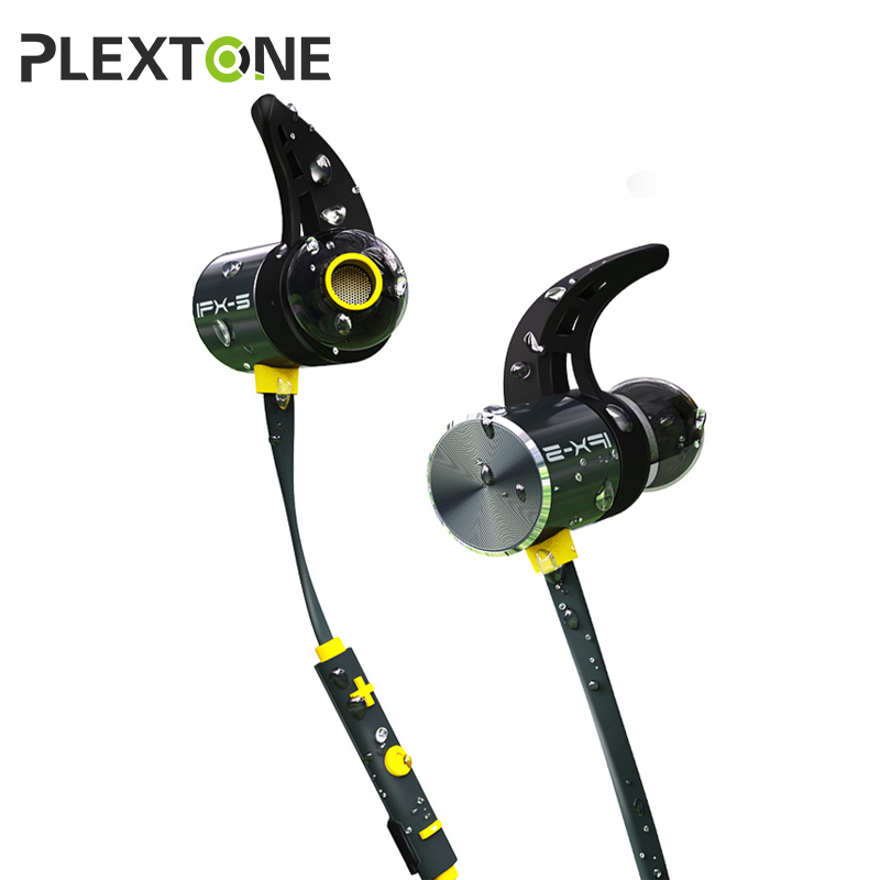 Plextone BX343 Bluetooth Headphone IPX5 Waterproof Earbuds With Mic Neckband Sport Wireless Earphone For Mobile Phone Headset mjjc brand foam lance for karcher 5 units package free shipping 2017 with high quality automobiles accessory