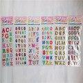 10 hojas lindo carta alfabeto 3D pegatinas diario PVC puffy recompensa niños kawaii Juguetes de burbujas para notebook