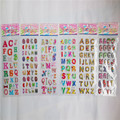 10sheets cute letter alphabet 3D stickers diary PVC puffy reward kids children kawaii bubble stickers for notebook Toys