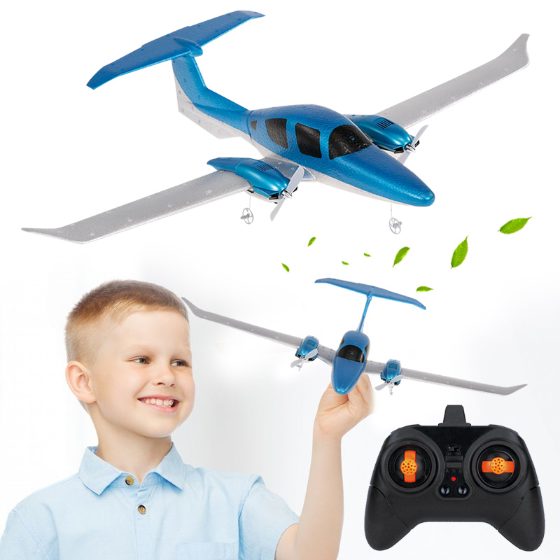 Подарок размах крыльев EPP БПЛА синий планер дистанционного пенного самолета для декора самолета Прямая DIY