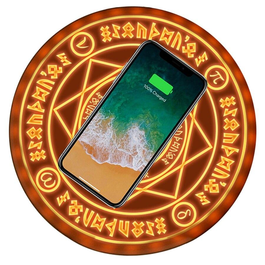 Universal Magie Kreis Drahtlose Ladegerät Qi Drahtlose Schnelle Schnell Lade Pad für iPhone X XS 8 Samsung Xiaomi Redmi Huawei ehre