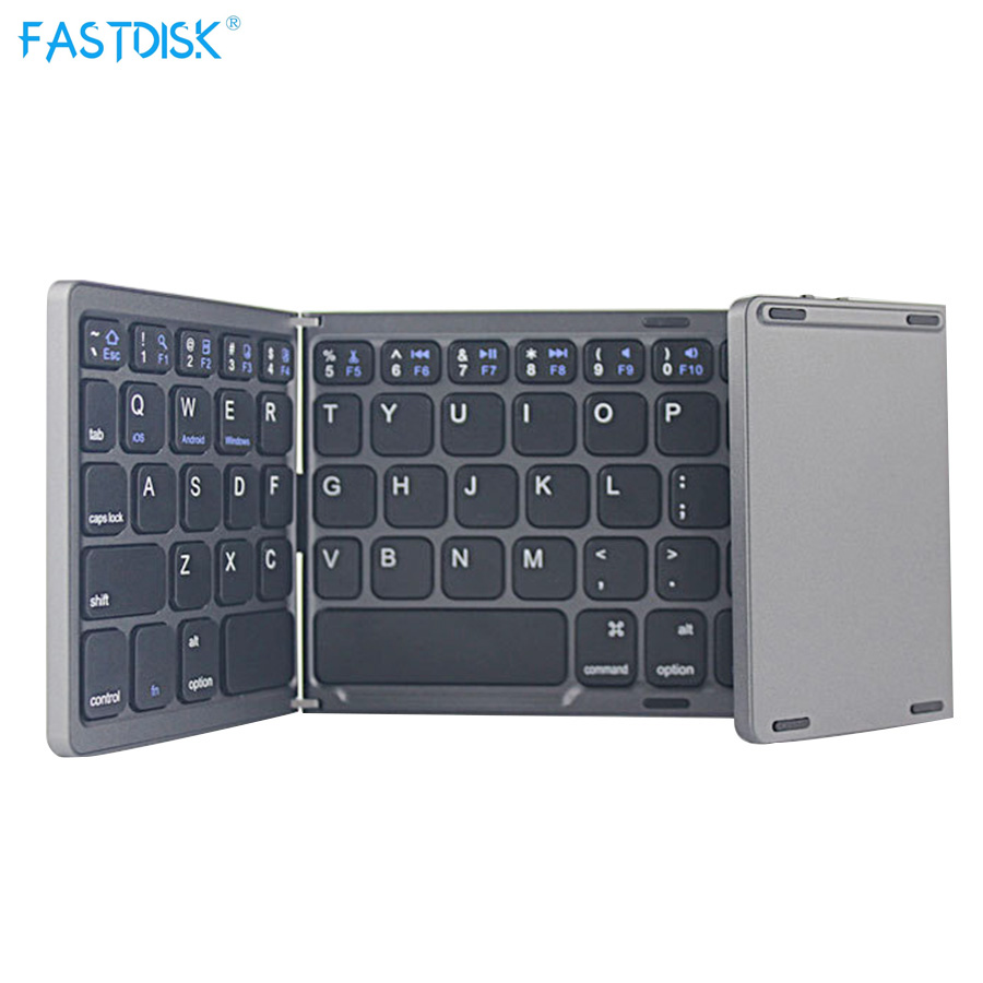 Mini Wireless Bluetooth 3.0 Folding Foldable Keyboard for iPhone /iPad/MacBook Mobile Phone Tablet PC for windows android ios [avatto] a20 pocket leather folding mini keyboard bluetooth foldable wireless keypad for iphone android phone tablet ipad pc