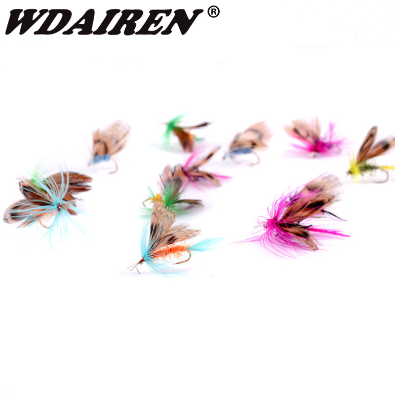 12Pcs/Set Insects Flies Fly Fishing Lures Bait High Carbon Steel Hook Fish Tackle With Super Sharpened Crank Hook Fishing Tackle 5