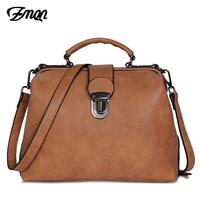 ZMQN Vintage Bags For Women Famous Brands Matte Skin Retro PU Leather Handbags Doctor Shoulder Bags