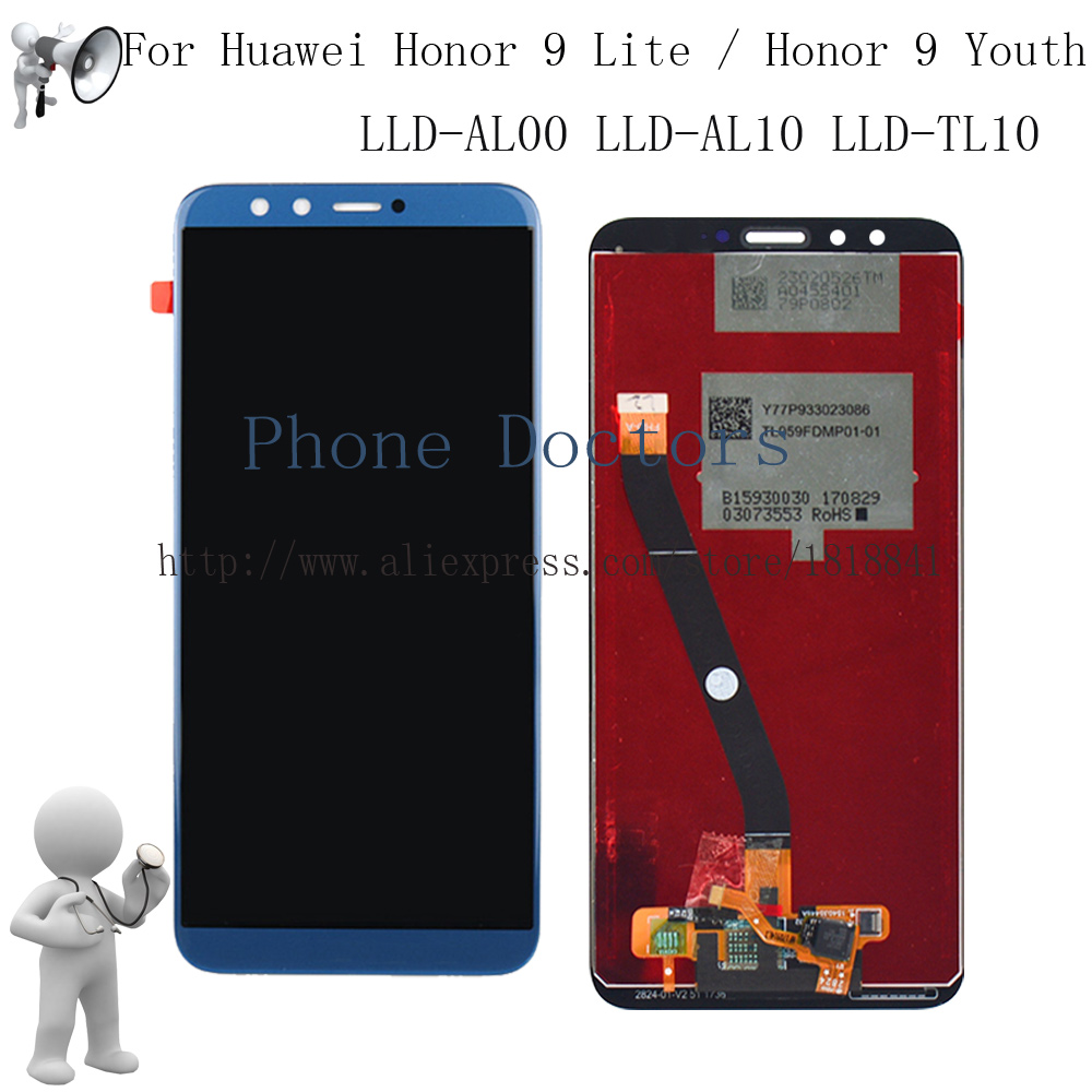 Blue Full LCD DIsplay +Touch Screen Digitizer Assembly For Huawei Honor 9 Lite / Honor 9 Youth Edition LLD-L31 LLD-AL10 LLD-L22A