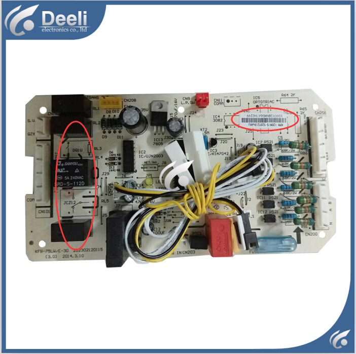 95% new good working for air conditioning computer board KFR-120W/S-520T2 KFR-75LW/E-30 control board working 95% new for haier refrigerator computer board circuit board bcd 198k 0064000619 driver board good working