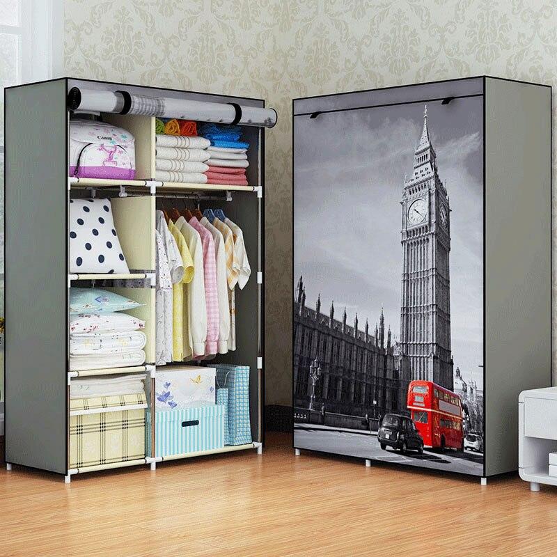 Moderne minimaliste maison art créatif chambre meubles placards portables non-tissé multi-usages armoires de rangement garde-robe placards