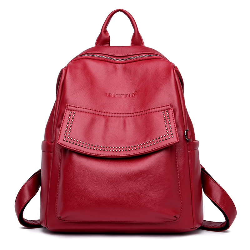 Europe And The United States Style Women Backpack Casual Classic Bags High Quality Female Shoulder Bag PU Leather Girls Backpack fashion europe style high quality brass