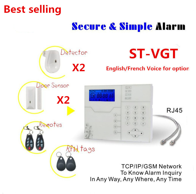 Most Advanced WebIE Control Wireless Home Smart Alarm TCP/IP Burglar GSM Alarm System Security Home Alarm System bulk order price best ethernet alarm wireless tcp ip alarm gsm alarm system for smart home security protection alarm with app