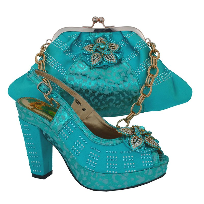 ФОТО Italy Design Summer Style Shoe And Matching Bag Set For Party African Women Shoes And Bag Set Sky Blue Free Shipping CP63001