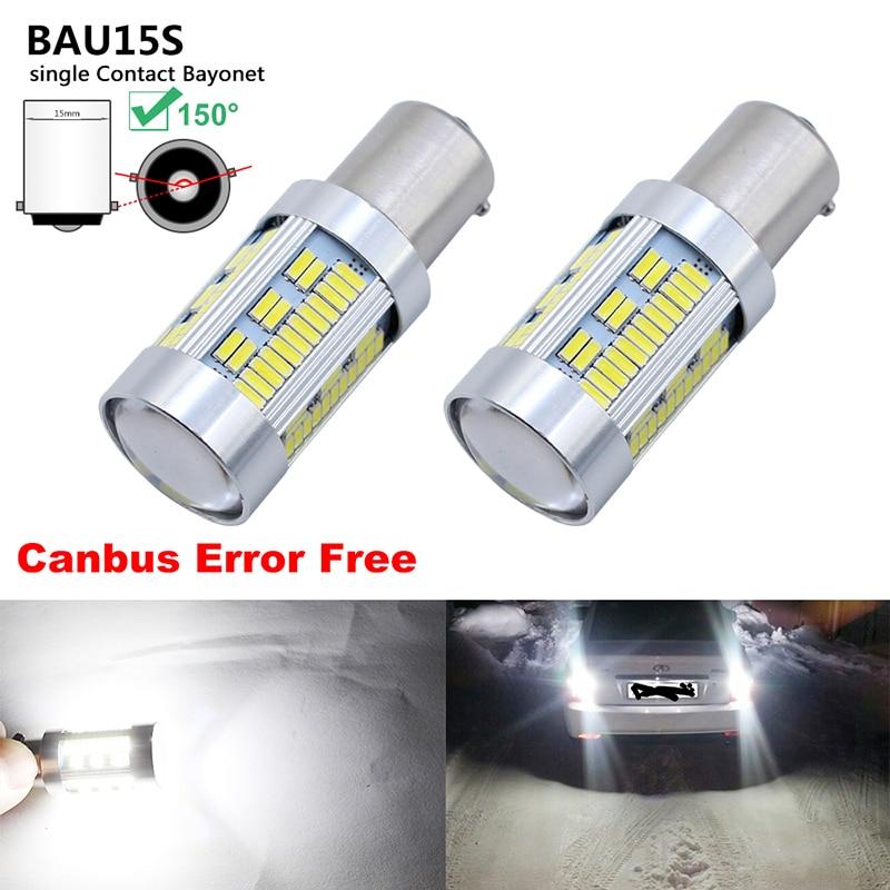 2x Canbus 1156 BA15S P21W Led Light Bulb BAU15S PY21W T20 W21/5W 7440 Auto DRL SMD White 12V Stop Reverse Light 2x led canbus no errors 1156 7506 7528 ba15s p21w led bau15s py21w for audi a4 q3 q5 sq5 a6 s6 a3 quattro no flashing yellow