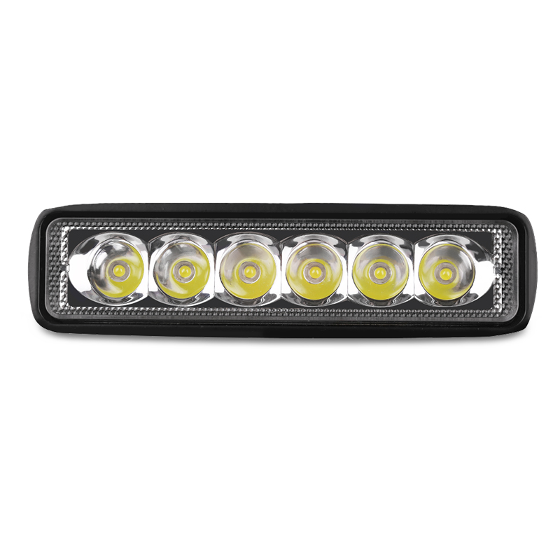 1PC 18w Car Led Work Light Bar 12v For Off Road Trucks Led Driving Lights Spotlighting Fog Day Lamp For SUV Bus Boat Auto