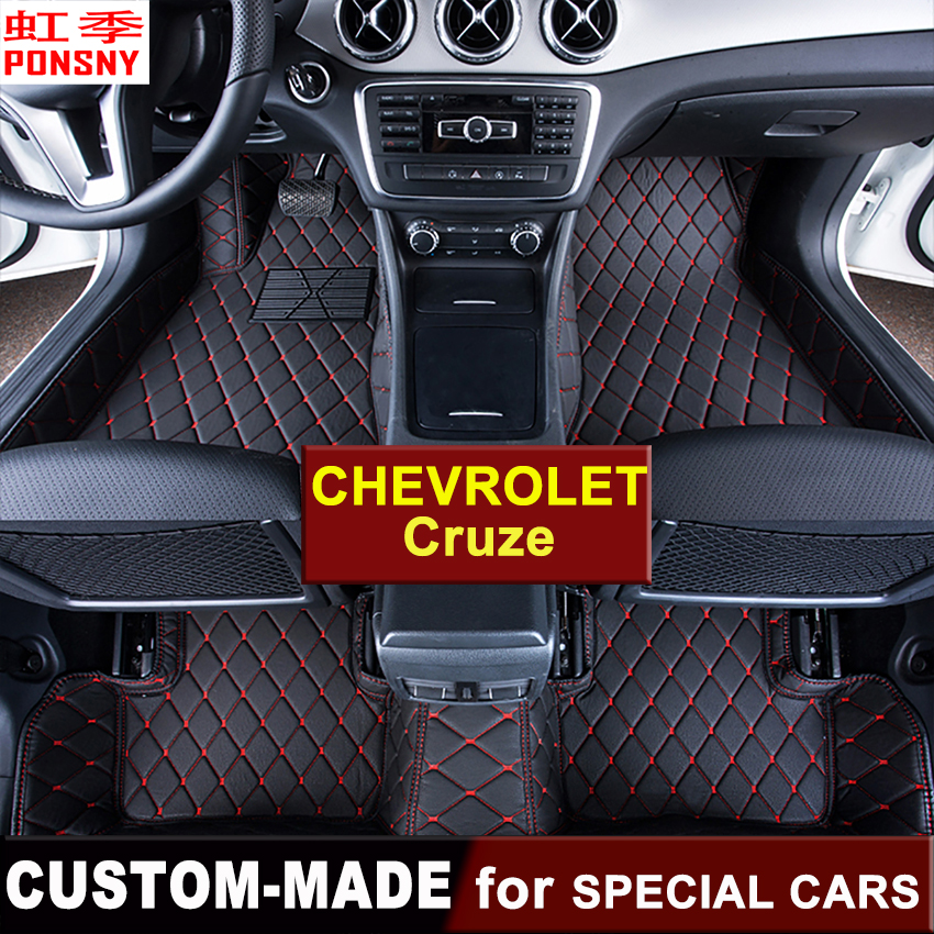 Car Floor Mats Customized for Chevrolet Cruze 2009~2014 2015~ 3D Floor Carpets Custom made Foot Mats