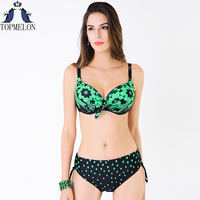 Plus Size Swimwear Swimsuit Women Swimwear Bikini 2016 Swimming Suit Swimsuit Solid Female Large Size Swimwear