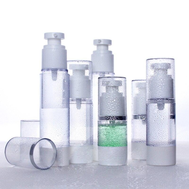 15-100ml Dispenser Empty Water Bottle Portable Refillable Bottle Spray Vacuum Bottle Emulsion Cosmetic Essence Perfume Container