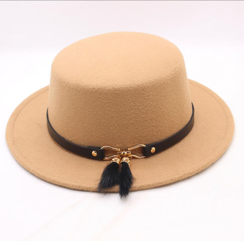 SUOGRY New Fashion Women Winter Hats Cashmere Mixes Polyester Spring Beanies Cap Wide Brim Flat Cup Female
