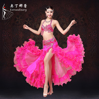 Stage Performance Belly Dance Costume Set Sexy Women S Stage Dancing Dresses Lady S Practice Belly