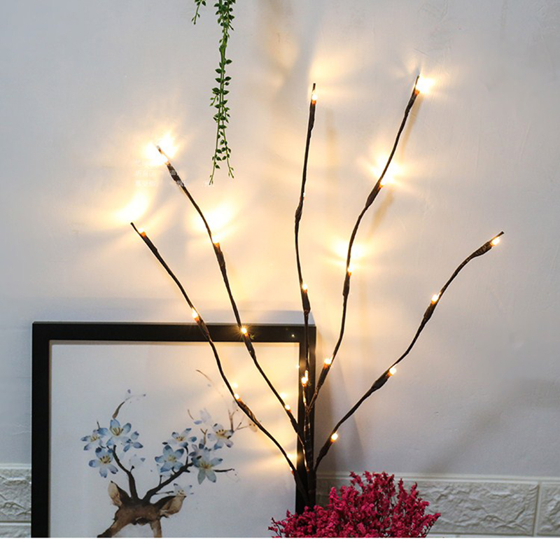 Warm White 20LEDS Led Tree Light Battery Powered Christmas Fairy Wedding Decoration Indoor Table Lamp Luminarias Night Light fumat rose tree night lights novelty blossom tree lamp luminarias led home decoration indoor lighting pink white night lamps