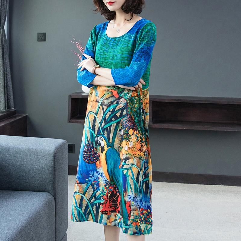 Silk dress 2019 spring new women's dress Women's Dresses