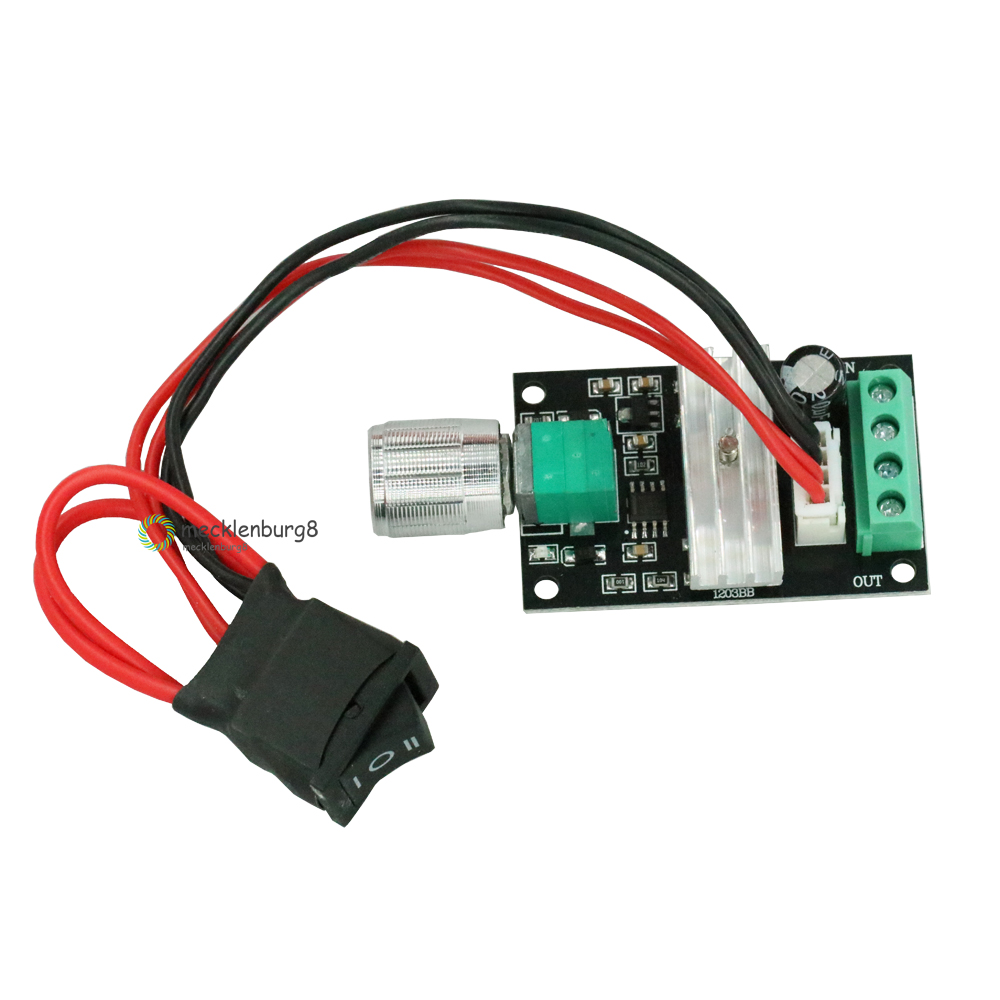 DC 6 To 12 V 24 V 28VDC 3A 80 W PWM Motor Speed Control Lehr Regulator Adjustable Variable Speed Control Potentiometer ON / OFF