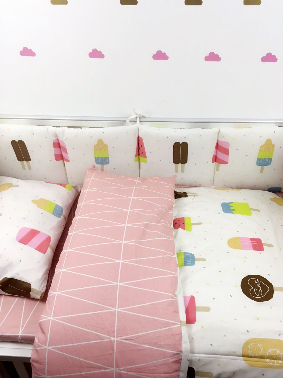 7pc Crib Infant Room Kids Baby Bedroom Set Nursery Bedding