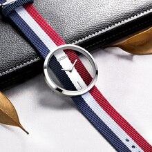 Montre Femmes DOM marque de luxe De Mode Casual quartz Unique Élégant Creux squelette montres Nylon sport Lady montres 205