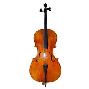Image 2 - Sevenangel Handwerk Olie Vernis Antieke Cello 4/4 Natuurlijke Gevlamd Grade Aaa Sparren Panel Violoncello Muziekinstrumenten
