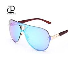 FEIDU Alta Calidad Sin Montura de Metal gafas de Sol de Marco Las Mujeres Diseñador de la Marca hombres Gafas de Sol 7 Colores de Lentes de gafas De Sol Oculos Con caja