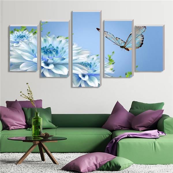 Toile imprimer retour vers le futur mur Art photo modulaire Art orchid photos mur photos salon cuadros decoracion 5 pcs -