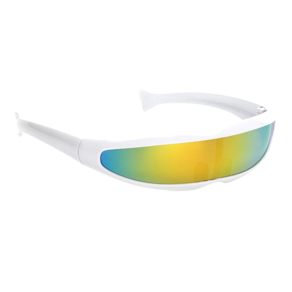 Colorful Women Shield Visor Sunglasses Women Retro Windproof Glasses Men Shield Visor Flat Top Hood Eyeglasses 4 Colors