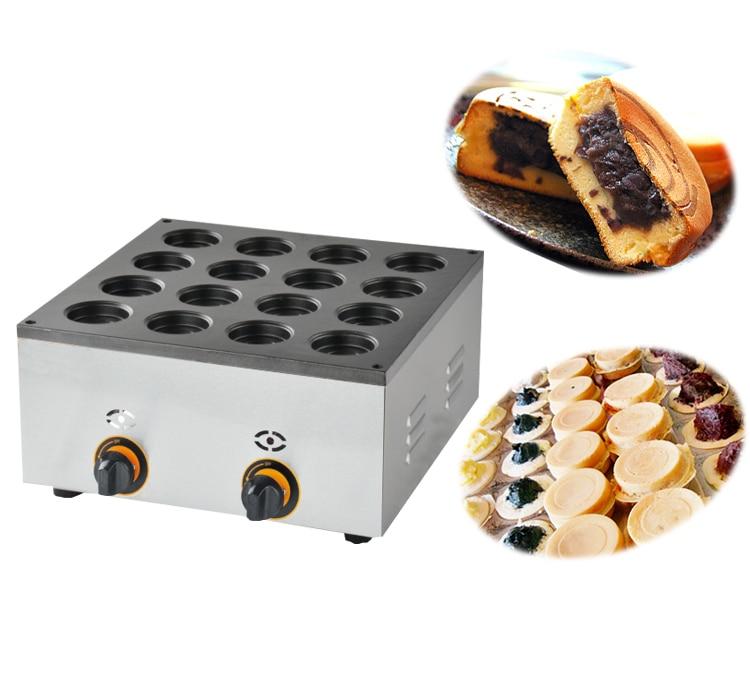 GaS type 16 hole Obanyaki Dorayaki Azuki Bean Waffle Maker Baker Machine Iron цена