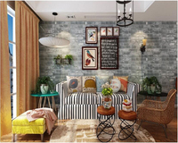 Beibehang Gray Three Dimensional Imitation Brick Wallpaper PVC Classic Chinese Living Room Restaurant Retro Wall Papel