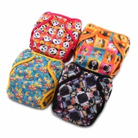 JinoBaby Natural Bamboo Cloth Nappy One Size Cloth Diaper Newborn To Toddler Babies Pocket Cloth Diapers