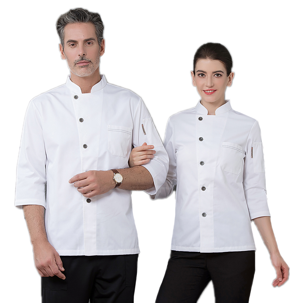 High Quality Hotel Long-Sleeved Chef's Jacket Restaurant Uniform Bakery Accessories Kitchen Men Work Clothes Coat Overalls