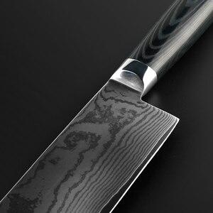 Image 3 - FINDKING جديد 6.5 بوصة ناكيري السكاكين شفرة دمشق الصلب دمشق سكين الطاهي 67 طبقات دمشق سكين المطبخ