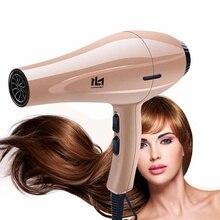 Secador de cabelo de alta potência, para cabeleireiro, profissional, íon negativo, com bocal de coleta, quente/frio, d35