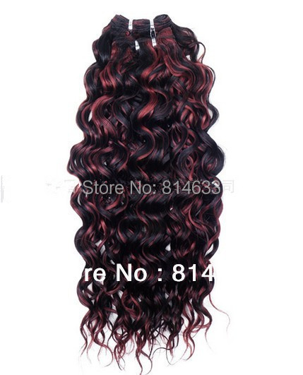 #1B/BG Highlighted Black Loose curly 100% Human Remy Hair Machine Weft Queen Quality Virgin Malaysian Hair Weft 3pcs/lot