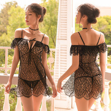 Women Porno Sexy Lingerie Lace Babydoll Sleepwear Dress Hot Erotic Costume Underwear