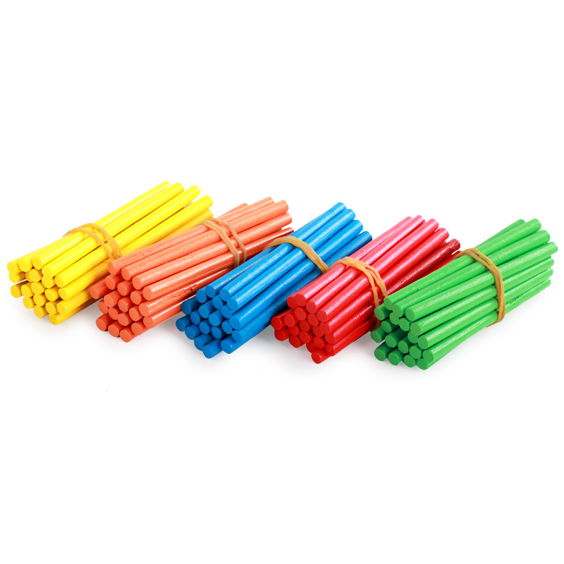 100Pcs Children Wooden Numbers Learning Stick Mathematics Early Counting Educational Toys Kids Girls And Boys Gifts TK0200