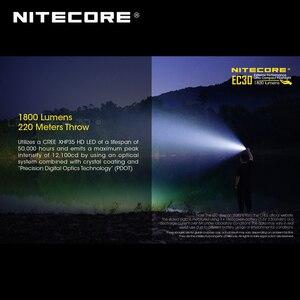Image 2 - 1800 Lumens Nitecore EC30 CREE XHP35 HD LED Extreme Performance Ultra Compact Flashlight