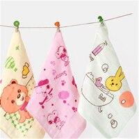 Мягкий мультфильм детские ванны towel handkerchief роскошные салфетки высокое качество твердого терапии для новорожденных полотенца хлопок нагруд...