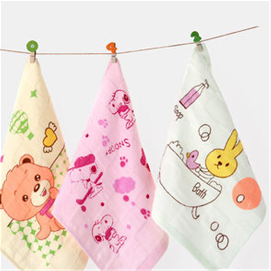 Soft Cartoon Baby Bath Towel Handkerchief Luxury Wipes High Quality Solid Care For Newborns Towels Cotton Bibs Cute 70A0084
