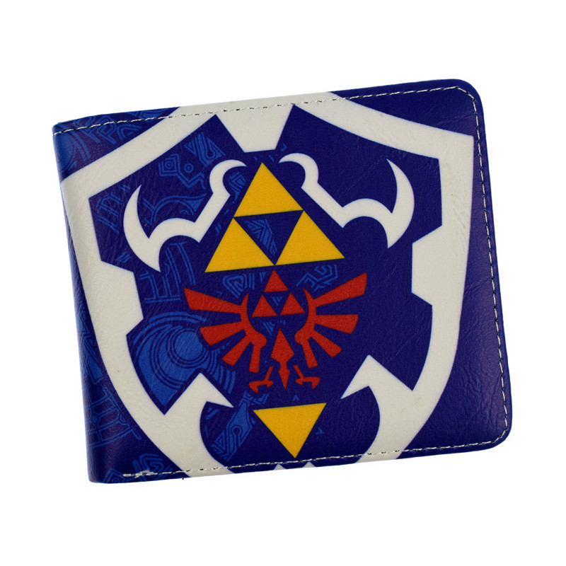The Legend of Zelda Figure Wallet Nintendo Game Wallets Shield Leather Short Money Pocket Bag Teen Student Purse Comics red dragon man wallet game of throne pu purse fire blood logo wallets portal game short money carteiras portfel