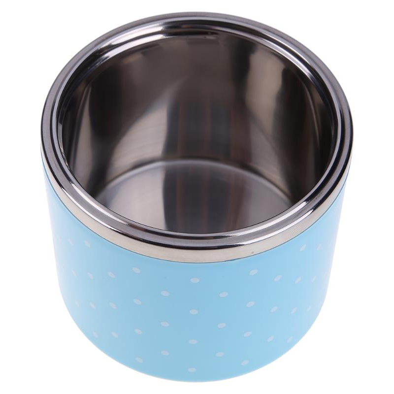 Leak Proof Stainless Steel Lunch Box Japanese Thermos Bento Kids Food Container Round Shape Picnic Travel For Food Storage in Lunch Boxes from Home Garden