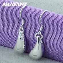 Dangle Earrings Party-Jewelry Brincos 925-Silver Statement Water-Drop Women New-Fashion